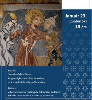 Iskolánk 350 éves évfordulója és a magyar kultúra napja alkalmából szervezett előadássorozat bevezető eseménye.