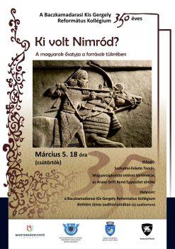 Iskolánk 350 éves évfordulója alkalmából szervezett előadássorozat következő eseménye.